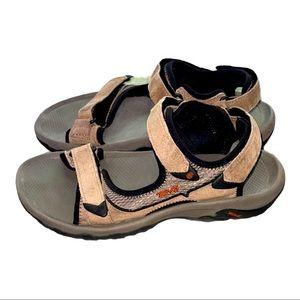 Teva Men Suede Velcro Strap Sandals
